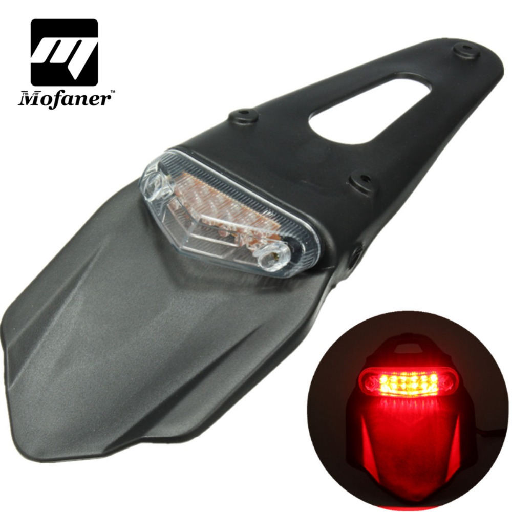 Universal Motorcycle Fender Flares Light 12 LED font b Lamp b font Stop Brake Rear Tail