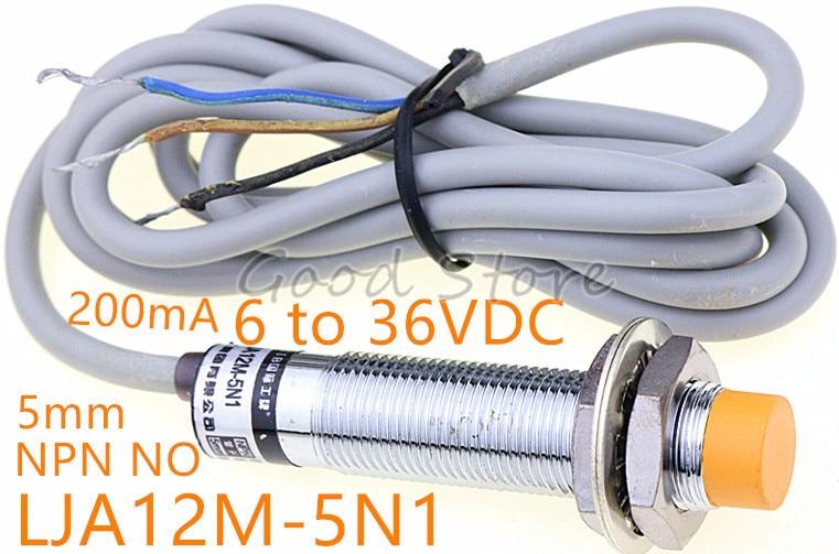 Фотоэлемент, три провода, 200 мА, от 6 до 36 В постоянного тока, NPN, NO M12, Бесконтактный переключатель, 1 шт.