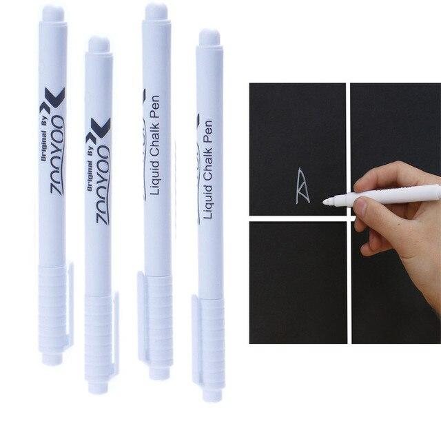 2 Stks Nul Witte Vloeistof Krijt Pen Marker Voor Ramen Krijtbord Schoolbord schoolbenodigdheden gratis verzending