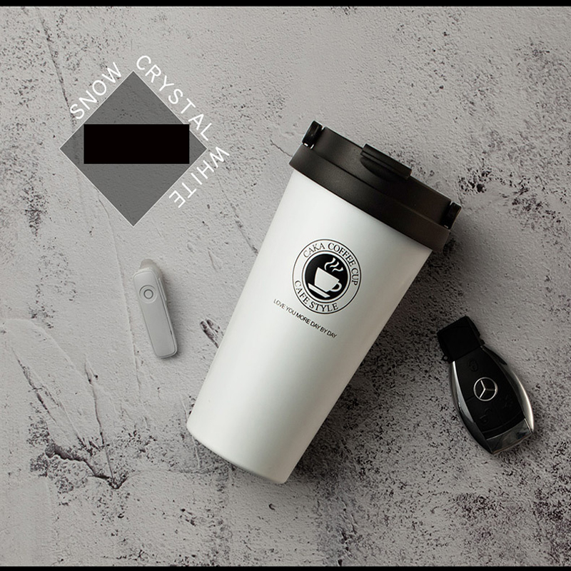 Creative cup stainless steel water cup mug trend schoolgirl with cover spoon coffee cup thermos cup custom made in Vacuum Flasks Thermoses from Home Garden