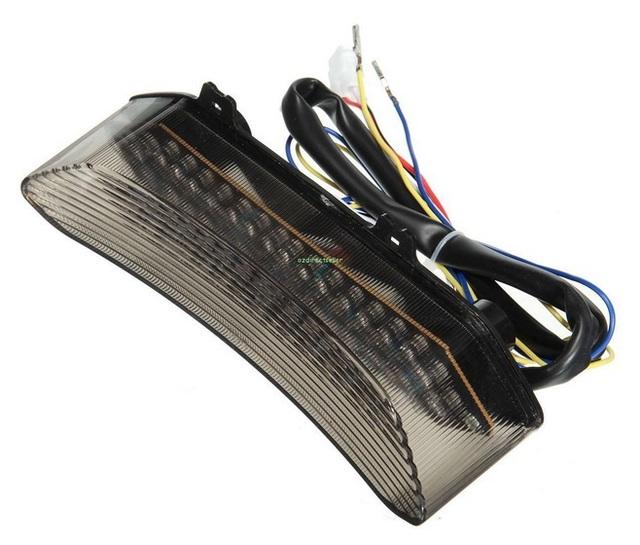 Nova Fumaça Led Brake Turn Signal Tail Light Integrado Para Yamaha YZF R1 02-03