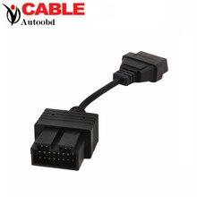 Высокое Качество A + + KIA 20 Pin 20Pin Мужчин OBD OBD2 OBDII DLC 16 Pin 16Pin Женский Автомобиля Диагностический Инструмент Адаптер Конвертер кабель