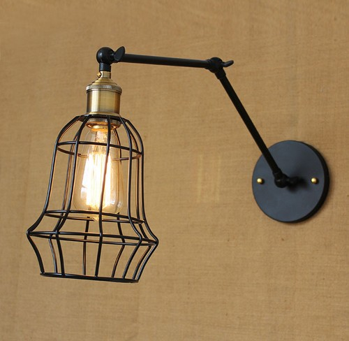 Edison Wall Sconce Retro Loft Style Industrial Vintage Wall Lamp Adjustable Iron Art Wall Light Fixtures For Indoor Lighting loft style iron edison wall sconce industrial lamp wheels vintage wall light fixtures antique indoor lighting lampara pared