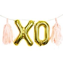Giant 40 Inch Gold Balloon XOXO Wedding Party Bachelorette birthday decor balloon garland party decor xo Photo Prop