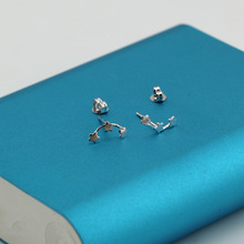 Wholesale High Quality Jewelry Silver Plated Cute Cool Star Stud Earrings For Women Best Gift JY023