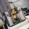 Women Handbags Lock Rivet Alligator Leather Tote Bags Brand Design Shoulder Bag Female Fashion Cross Body Bag Bolsas Mujer