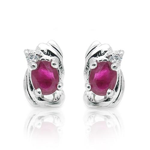 Brinco Qi Xuan_Free D'expédition Pierre Rouge Fleur Élégante Earrings_S925 Solide Argent Mode Earrings_Manufacturer Directement Vente