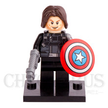 SingleSale Bucky Winter Soldier Bucky with Shield Captain America Civil War Super Heroes minifig Building Blocks Kids Toys(China)