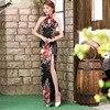 Traditional Chinese Dresses Sale Backless Cheongsam Dress Black Modern Long Qipao Vestidos Chinos Oriental Evening Dress