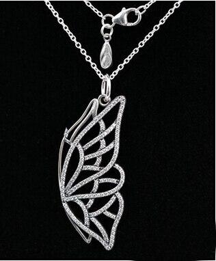 f725a9c9557d Nuevo auténtico comienzo mariposa CZ COLLAR COLGANTE para Lady compatible  con joyería de plata