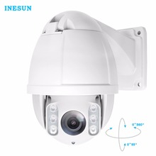 Фотография Inesun PTZ IP Camera 4 Megapixels 2592x1520 Super HD Pan/Tilt 10x Optical Zoom Outdoor Mini IR High Speed Dome Camera Waterproof