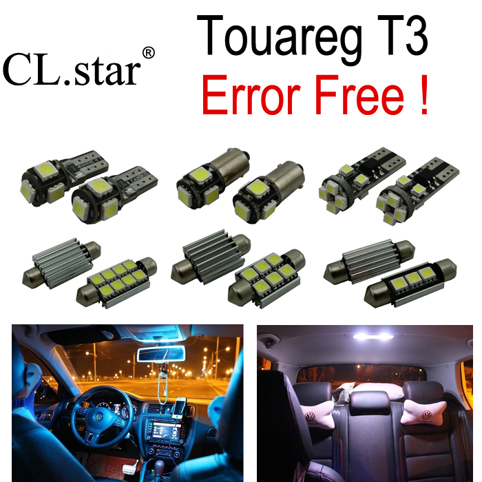 27pcs canbus Error Free for Volkswagen Touareg T3 LED bulb Interior Light Kit Package (2010+) 18pc canbus error free reading led bulb interior dome light kit package for audi a7 s7 rs7 sportback 2012