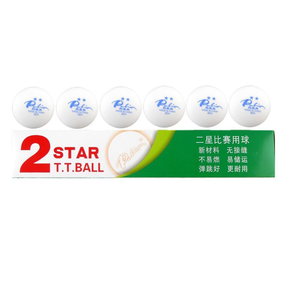 18x Palio New Material Seamless 2 Star 40+ 2 Star 40+ 2Star 40+ White Table  Tennis Ping Pong Balls