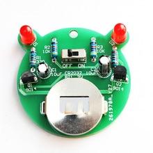 diy electronic kit set Cartoon bear LED flash light production