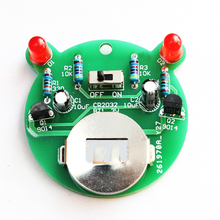 diy electronic kit set Cartoon bear LED flash light production kit Simple flash