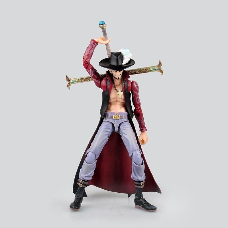 Anime One Piece 18cm BJD Dracule Mihawk Joints Moveable Action Figure Collection Model Toys
