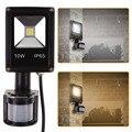 10 w pir motion sensor de seguridad al aire libre del reflector blanco puro llevó la iluminación de la pared 50-60 hz ac 85-265 v fuli