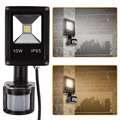 10W PIR Outdoor Security Motion Sensor Floodlight Pure White LED Wall Lighting 50-60Hz AC 85-265V FULI