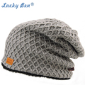 Lucky Ben Unisex Mens Winter Beanie Hats Warm Confort Men's Women's Autumn/Winter Hats Brand Stretches to fit most sizes