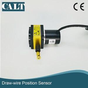 400 мм Диапазон хода линейное положение струнные горшки датчик смещения проводной потенциометр преобразователь для измерения расстояния