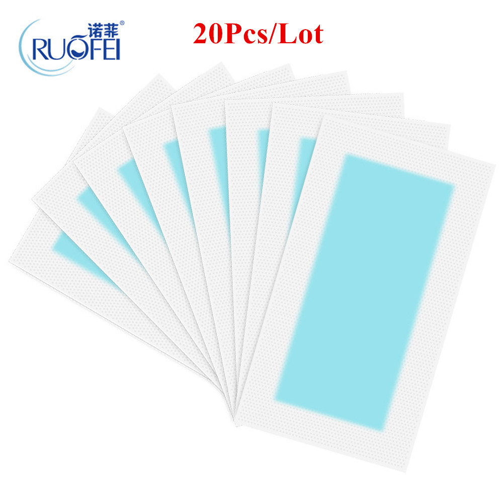 20pcs=10sheets Summer New Hot Sale Professional <font><b>Hair</b></font> <font><b>Removal</b></font> Double Sided Cold Wax Strips Paper For Leg <font><b>Body</b></font> Face 1761817