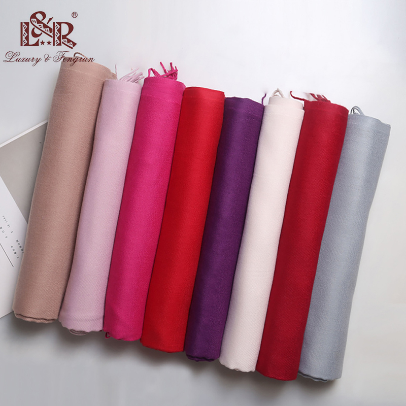2019 Luxury Brand Cashmere Scarf Women Ladies Men 39 s Winter Warm Soft Shawls Pashmina Solid Tassel Long Scarves And Wrap bufanda in Women 39 s Scarves from Apparel Accessories