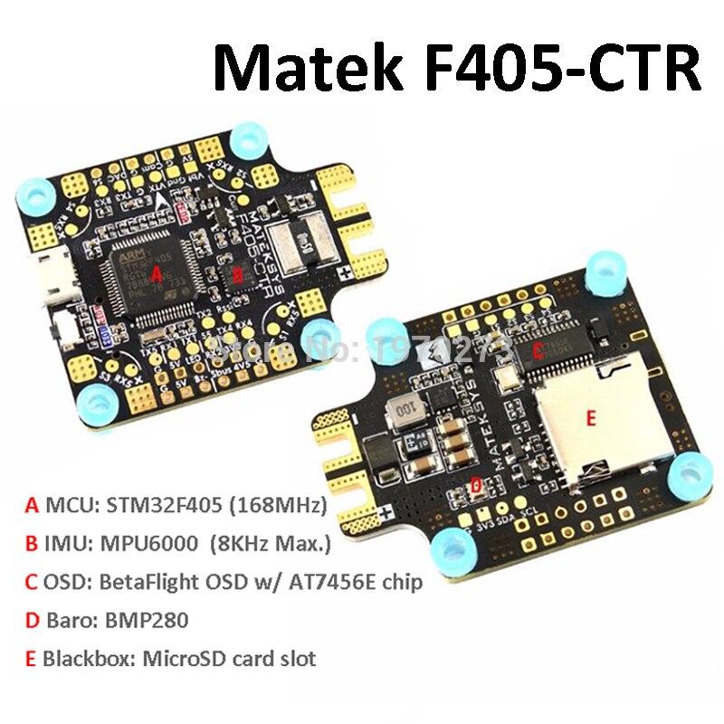 Системы matek Mateksys F405-CTR Полет управления Встроенный PDB OSD 5 В/2A BEC ток Сенсор для RC FPV Racing Drone
