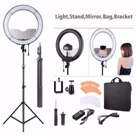 18 Annular Lamp 240 LED Photographic Lighting Dimmable Camera Photo/Studio/Phone/Video Selfie Ring Light Tripod Stand