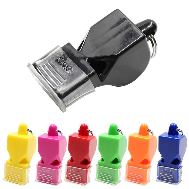 1Pcs High Quality Whistle Plastic Football Basketball Hockey Baseball Sports Classic Referee Whistle Survival Outdoor QA1149