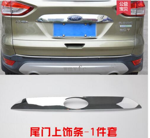 FIT FOR FORD ESCAPE KUGA 2013 2014 -2017 CHROME REAR TRUNK LID TAILGATE BOOT BACK DOOR T ...