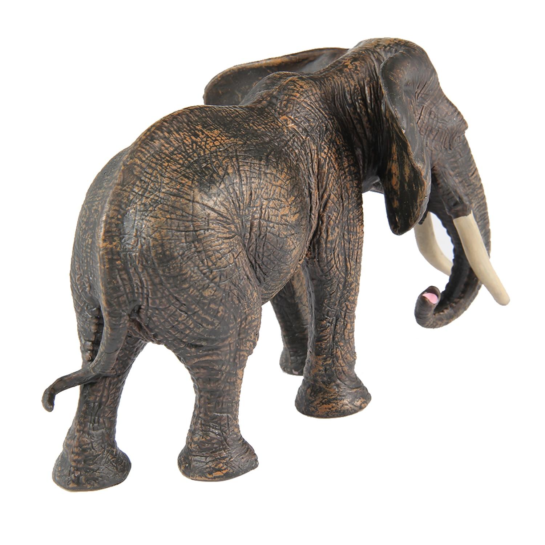 Home Decoration Simulation Animal Model Black Elephant Arctic Wolf ...