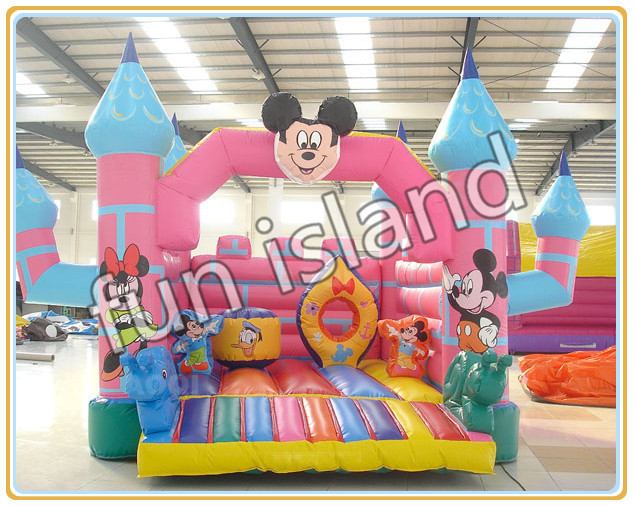 Party used mickey mouse inflatable font b bouncer b font cheap inflatable font b bouncers b