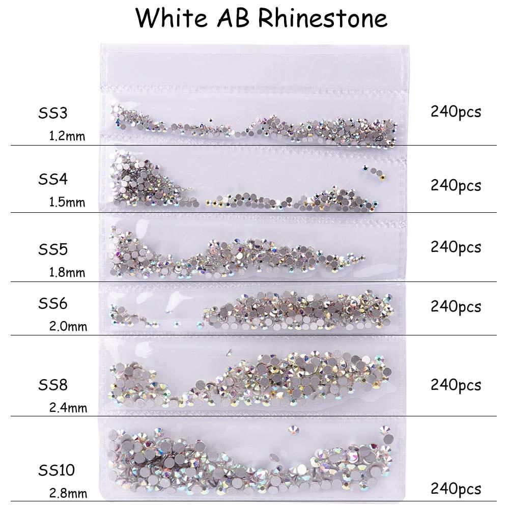 White AB Rhinestone