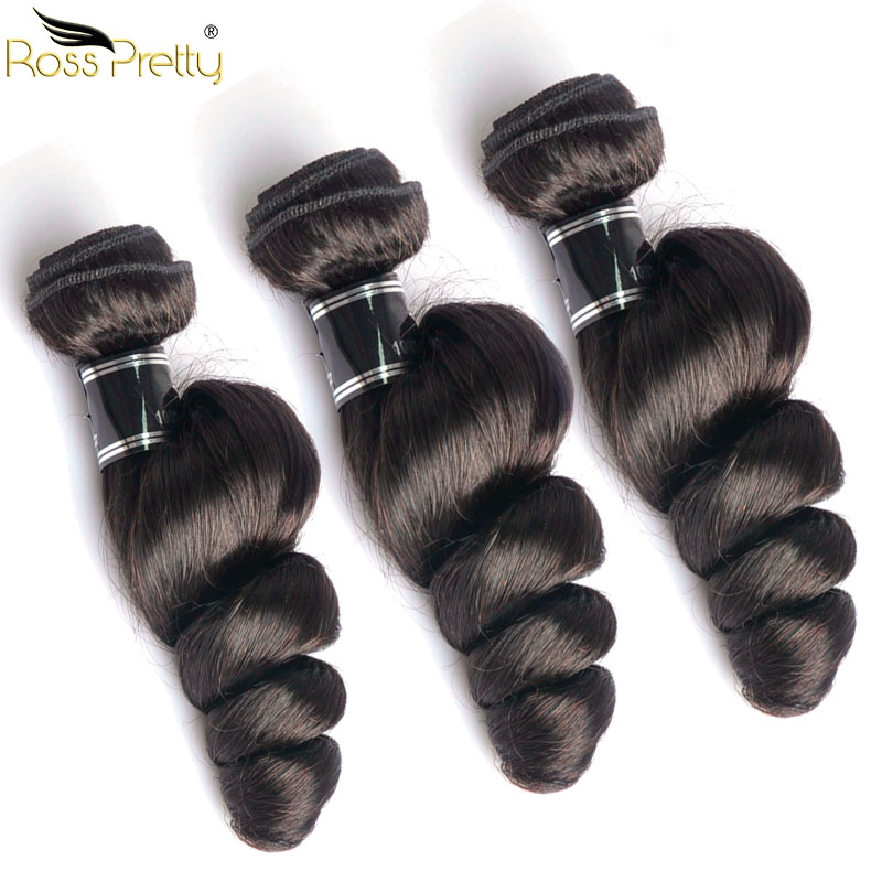 Peruvian Hair Loose Wave Natural Human Hair Weave Quality Ross Pretty Peruvian Remy Hair Extension Wholesale Price 3bundles