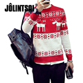 Jolintsai Winter Knitted Sweater Men 2017 Fashion Slim Sweater With Deer Pullover Printing Christmas Sweaters Pull Homme Tops