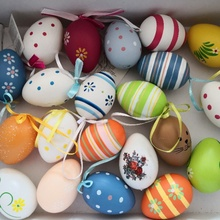 12PCS Cute DIY Easter Plastic Eggs Easter Eggs Colorful Painted Cute Easter Surprise Supplies Eggs Easter Party Decorations strange eggs