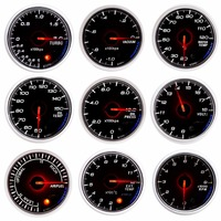 Boost Car Gauge 60mm 0 100 Kpa Turbo Mechanical Meter White Dial Face Silver Bezel Auto