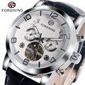 Moda relógio de pulso para homens forsining auto-vento automático função luminosa ano de exibição assista men presente w153401-2