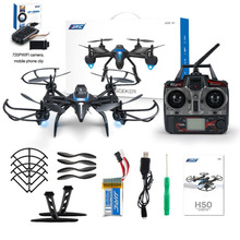 JJRC H50WH Wifi 2.4GHz 4-axis with 720P HD Cams Drone Gyro Altitude Hold Headless Mode 360 Degree Roll RC Quadcopter RTF