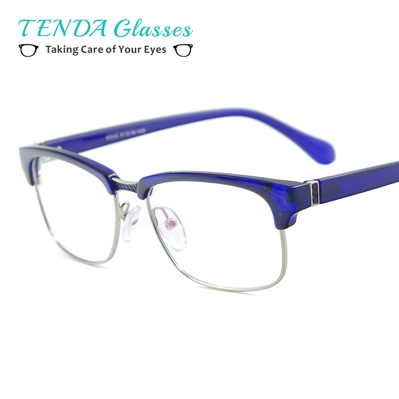 Women Vintage TR90 Small Eyeglasses Frame Man Square Full Rim Lightweight Colourful Glasses For Myopia Multifocal Lenses