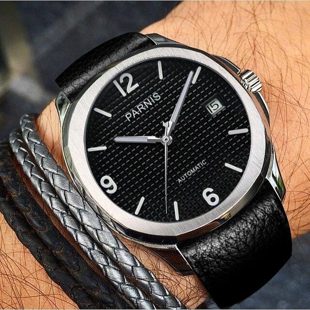 Parnis автоматические часы минималистский часы для мужчин наручные часы 2018 Miyota сапфировое стекло деловые часы relogio masculino подарок