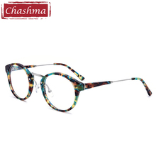 Chashma Brand Top Quality Frames Made in Shenzhen Round Vintage Pattern Optical Glasses Acetate Prescription Spectacles