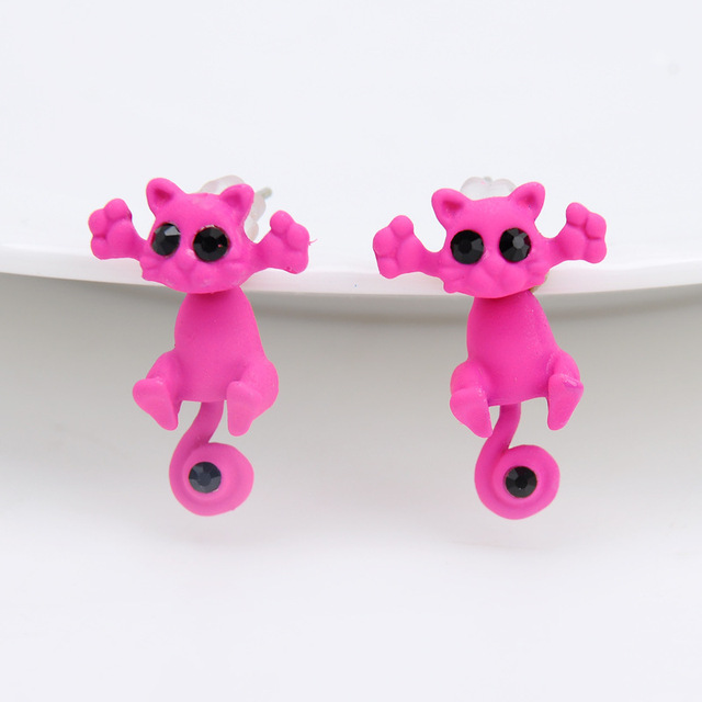 Cat Shaped Stud Earrings