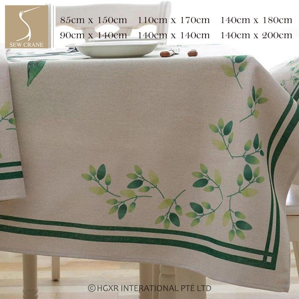 Sewcrane красивые абстрактные свежие зеленые листья Скатерти дома живет хлопок льняная скатерть