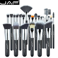 25 24 Pcs JAF Professional Black Makeup Brush Brushes Kit Tools Pinceis Cosmetic Eyeliner Lip Foundation