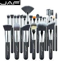 25 24 Pcs JAF Professional Black Makeup Brush Brushes Kit Tools Pinceis Cosmetic Eyeliner Lip Foundation