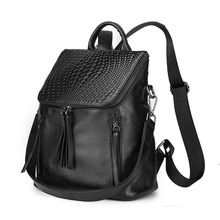 Zency женщина хозяйственная рюкзак Элитный бренд натуральная кожа женские рюкзаки дамы девушки школьная сумка из натуральной коровьей Mochila