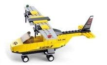 Sluban M38-B0360 110pcs Air Plane Airport T-Trainer Airplane 3D construction Building Block Bricks Set Compatible With Legoe