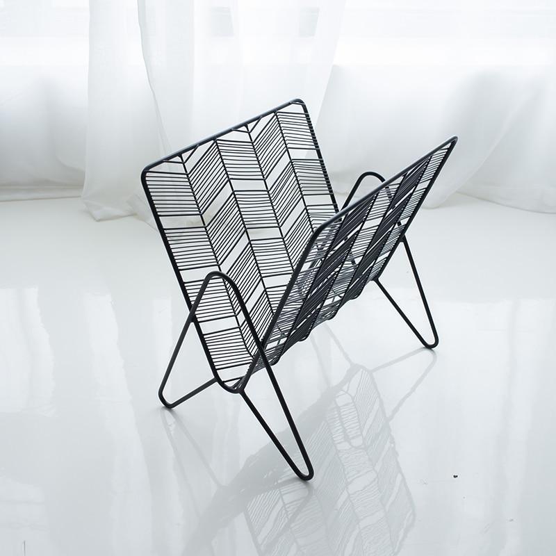 Plancher mobile type étagère fer rack chambre de bureau en métal fil magazine rack