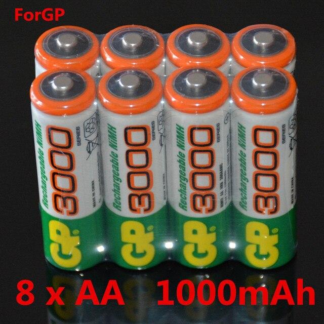 8 шт./лот оптовая для gp aa 1.2 В 1000 мАч ni-mh батарей игрушки